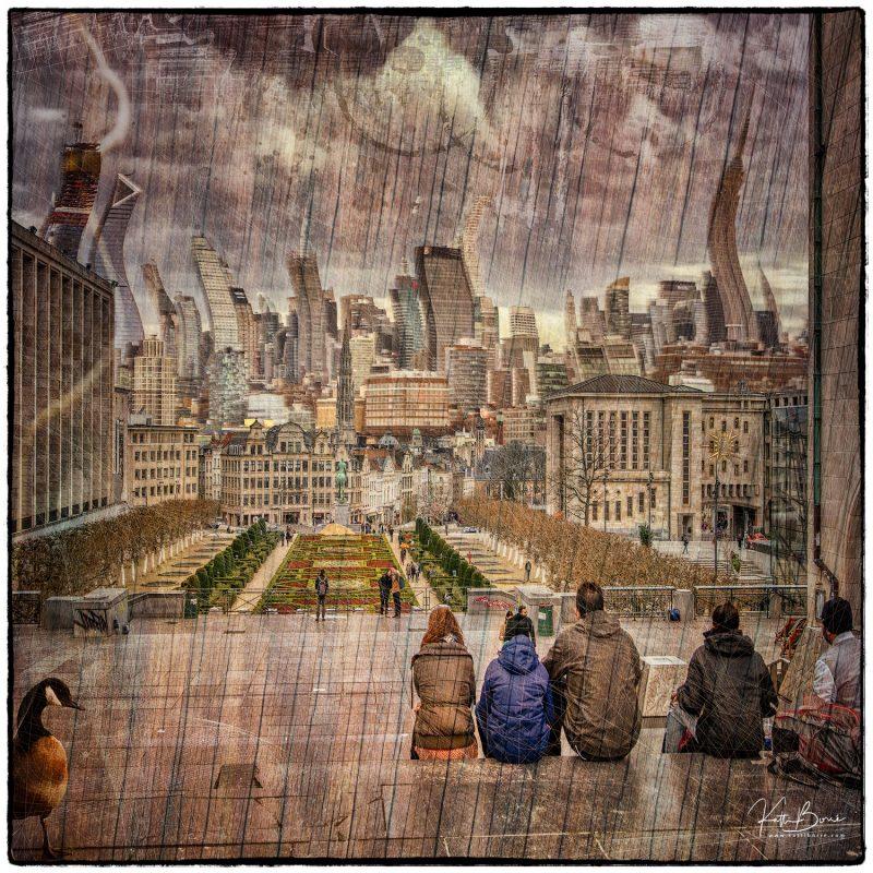 Katti Borre digital art its a strange strange world